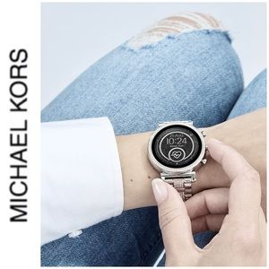 BRAND NEW authentic MK Sophie Smartwatch Silver